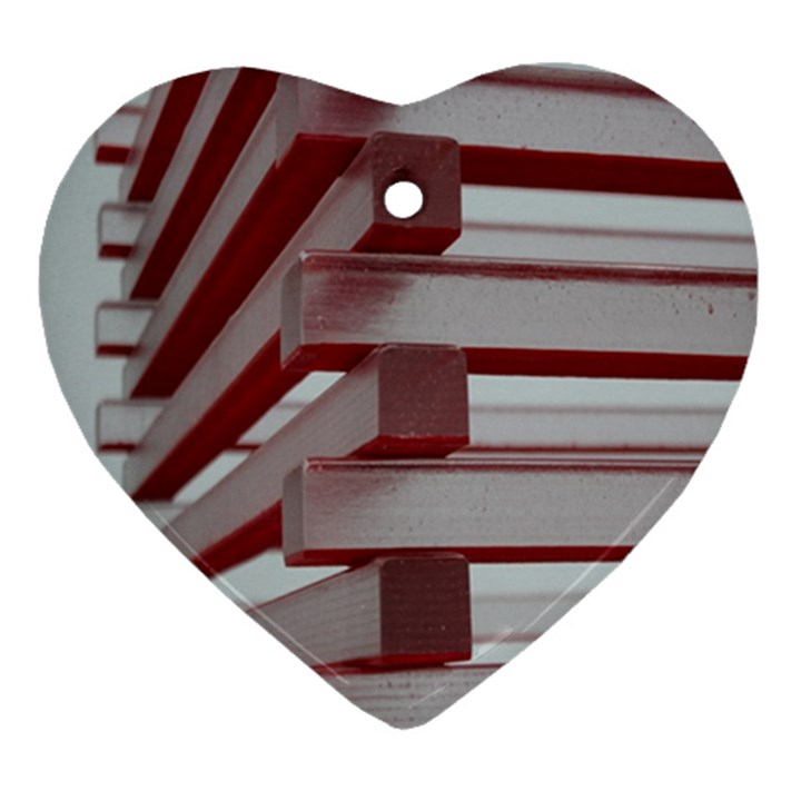 Red Sunglasses Art Abstract  Heart Ornament (2 Sides)