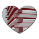 Red Sunglasses Art Abstract  Heart Mousepads Front