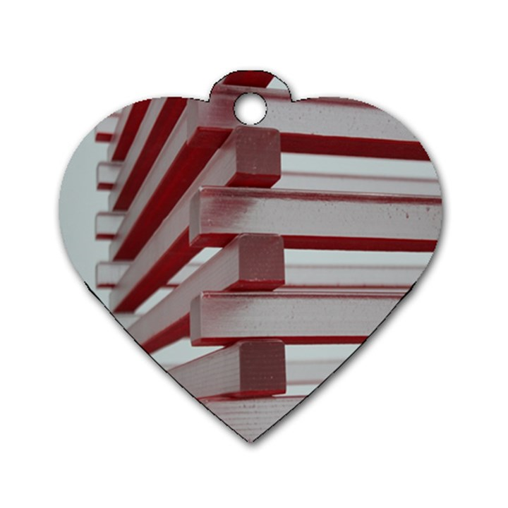 Red Sunglasses Art Abstract  Dog Tag Heart (Two Sides)