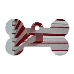 Red Sunglasses Art Abstract  Dog Tag Bone (One Side)