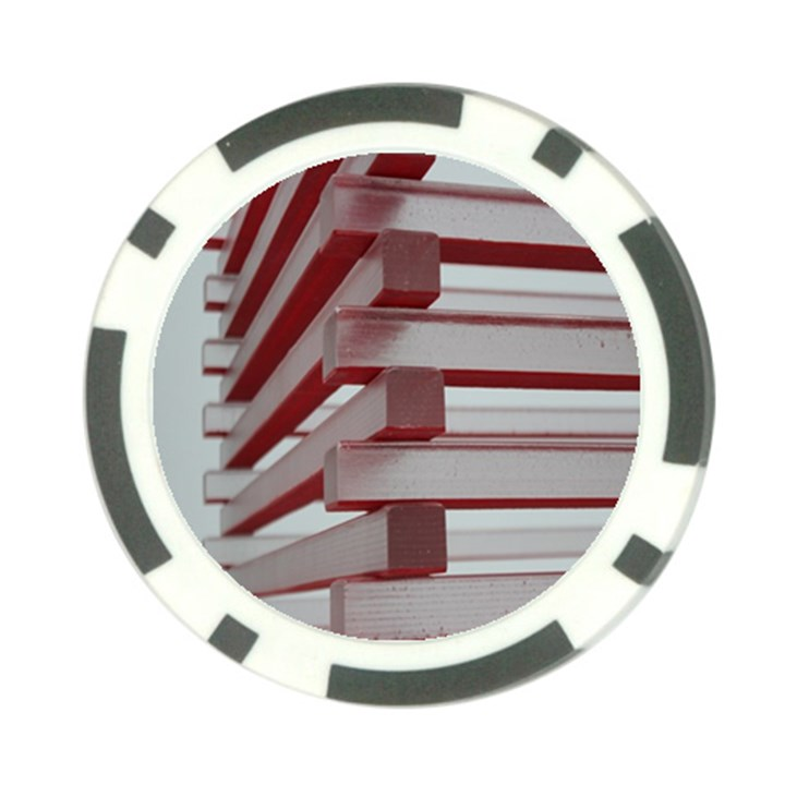 Red Sunglasses Art Abstract  Poker Chip Card Guards
