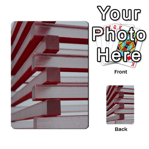 Red Sunglasses Art Abstract  Multi-purpose Cards (Rectangle)