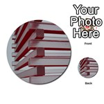 Red Sunglasses Art Abstract  Multi-purpose Cards (Round)  Back 46