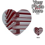 Red Sunglasses Art Abstract  Multi-purpose Cards (Heart)  Back 3