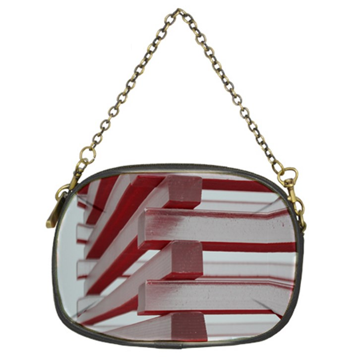 Red Sunglasses Art Abstract  Chain Purses (Two Sides)