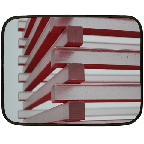 Red Sunglasses Art Abstract  Double Sided Fleece Blanket (Mini)