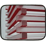 Red Sunglasses Art Abstract  Double Sided Fleece Blanket (Mini)  35 x27 Blanket Front