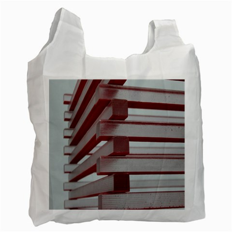 Red Sunglasses Art Abstract  Recycle Bag (Two Side)