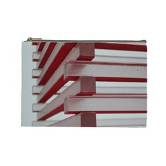 Red Sunglasses Art Abstract  Cosmetic Bag (Large)