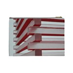 Red Sunglasses Art Abstract  Cosmetic Bag (Large)  Back