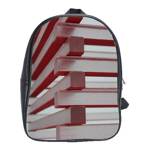 Red Sunglasses Art Abstract  School Bags(Large)