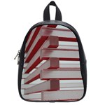 Red Sunglasses Art Abstract  School Bags (Small)  Front