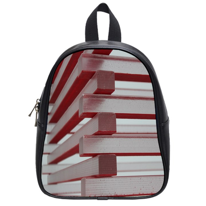Red Sunglasses Art Abstract  School Bags (Small)