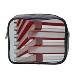 Red Sunglasses Art Abstract  Mini Toiletries Bag 2-Side Front