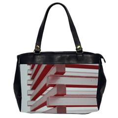 Red Sunglasses Art Abstract  Office Handbags (2 Sides)