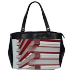 Red Sunglasses Art Abstract  Office Handbags (2 Sides)  Front