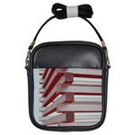 Red Sunglasses Art Abstract  Girls Sling Bags Front