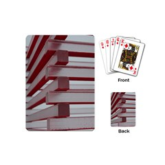Red Sunglasses Art Abstract  Playing Cards (Mini)