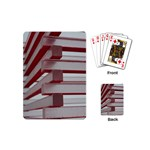 Red Sunglasses Art Abstract  Playing Cards (Mini)  Back