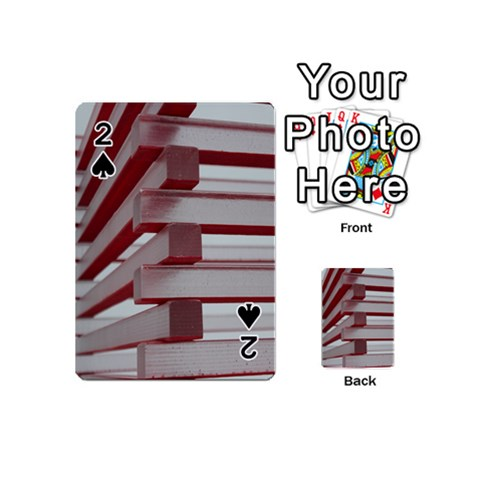 Red Sunglasses Art Abstract  Playing Cards 54 (Mini)
