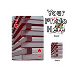 Red Sunglasses Art Abstract  Playing Cards 54 (Mini)  Front - Heart7