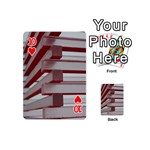 Red Sunglasses Art Abstract  Playing Cards 54 (Mini)  Front - Heart10