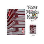 Red Sunglasses Art Abstract  Playing Cards 54 (Mini)  Front - Diamond2