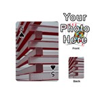 Red Sunglasses Art Abstract  Playing Cards 54 (Mini)  Front - Spade5