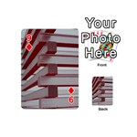 Red Sunglasses Art Abstract  Playing Cards 54 (Mini)  Front - Diamond9