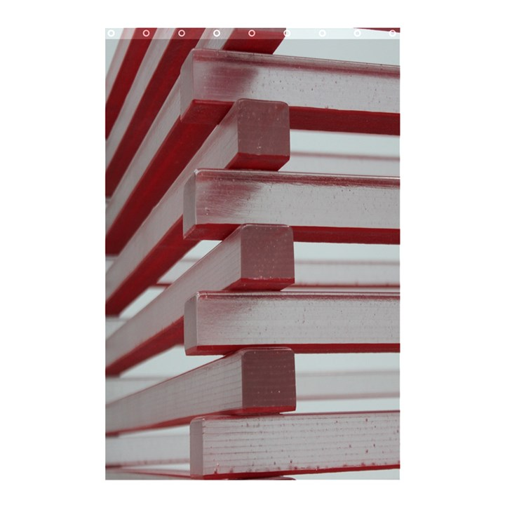 Red Sunglasses Art Abstract  Shower Curtain 48  x 72  (Small)
