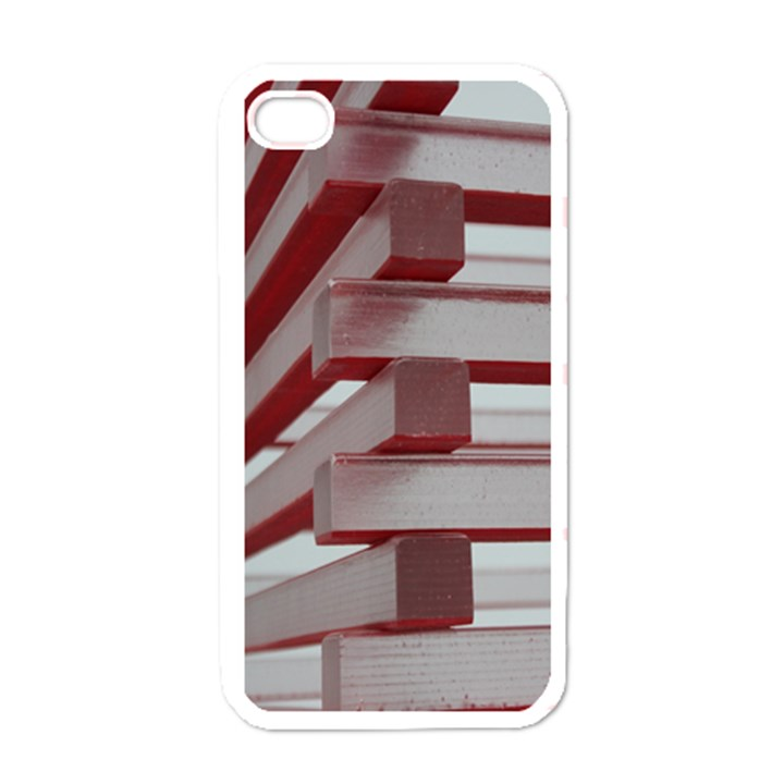 Red Sunglasses Art Abstract  Apple iPhone 4 Case (White)