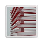 Red Sunglasses Art Abstract  Memory Card Reader (Square)  Front