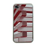 Red Sunglasses Art Abstract  Apple iPhone 4 Case (Clear) Front