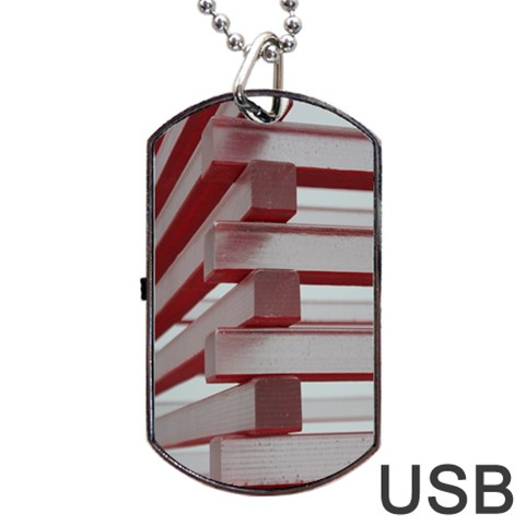 Red Sunglasses Art Abstract  Dog Tag USB Flash (One Side)