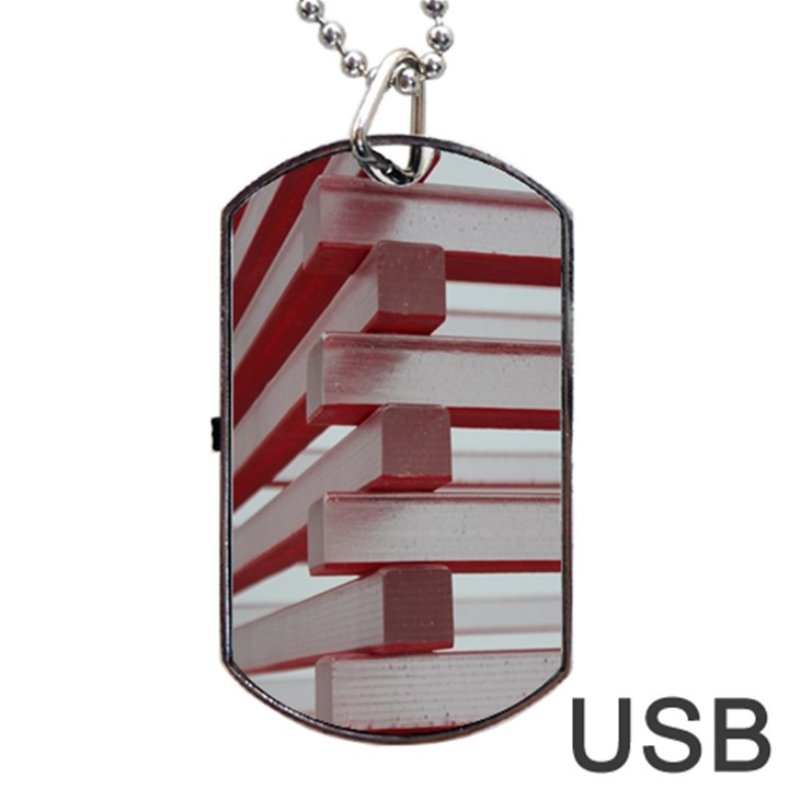 Red Sunglasses Art Abstract  Dog Tag USB Flash (Two Sides)