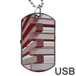 Red Sunglasses Art Abstract  Dog Tag USB Flash (Two Sides)  Back