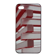 Red Sunglasses Art Abstract  Apple iPhone 4/4s Seamless Case (Black)