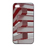 Red Sunglasses Art Abstract  Apple iPhone 4/4s Seamless Case (Black) Front