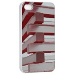 Red Sunglasses Art Abstract  Apple iPhone 4/4s Seamless Case (White) Front