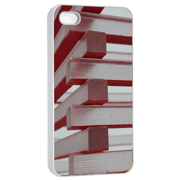 Red Sunglasses Art Abstract  Apple iPhone 4/4s Seamless Case (White)