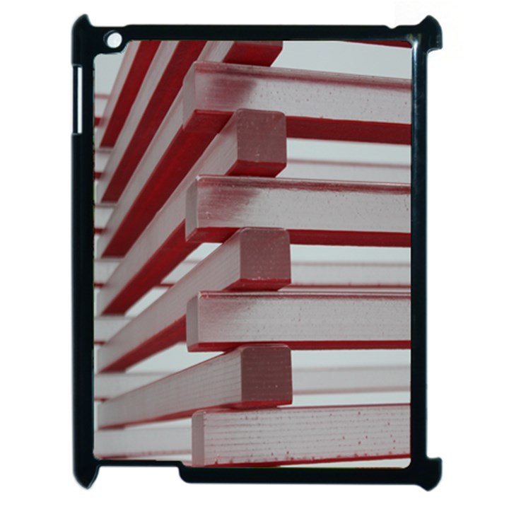 Red Sunglasses Art Abstract  Apple iPad 2 Case (Black)