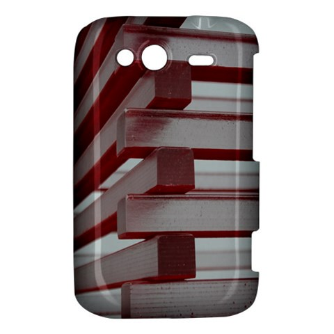 Red Sunglasses Art Abstract  HTC Wildfire S A510e Hardshell Case
