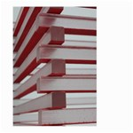 Red Sunglasses Art Abstract  Large Garden Flag (Two Sides) Back