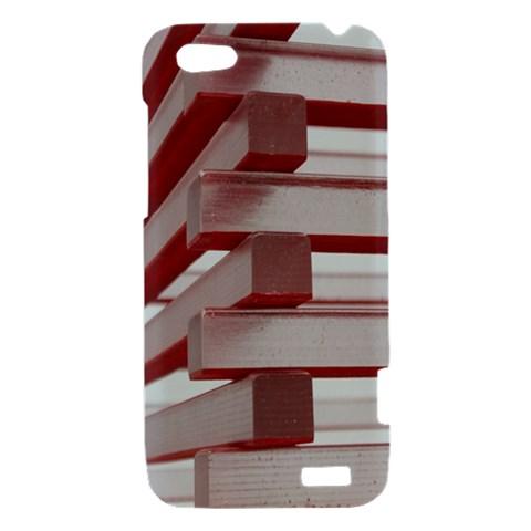 Red Sunglasses Art Abstract  HTC One V Hardshell Case