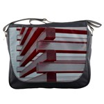 Red Sunglasses Art Abstract  Messenger Bags Front