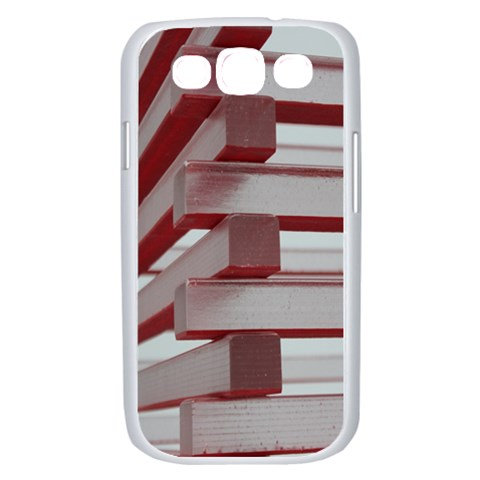 Red Sunglasses Art Abstract  Samsung Galaxy S III Case (White)