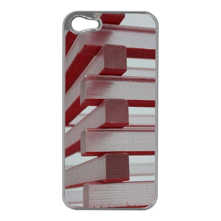 Red Sunglasses Art Abstract  Apple iPhone 5 Case (Silver)
