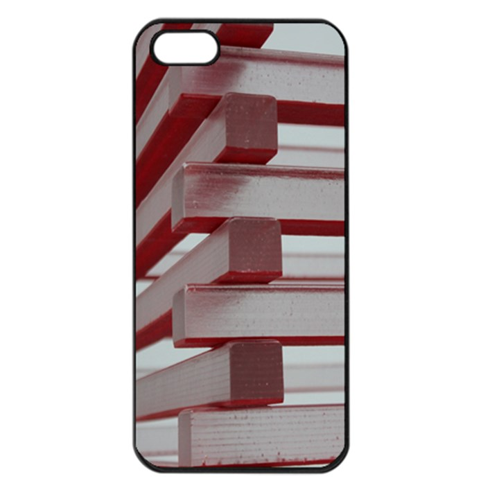 Red Sunglasses Art Abstract  Apple iPhone 5 Seamless Case (Black)