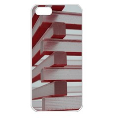 Red Sunglasses Art Abstract  Apple iPhone 5 Seamless Case (White)