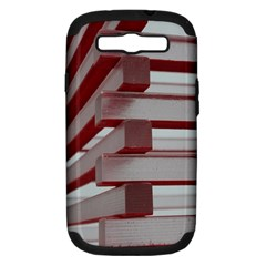 Red Sunglasses Art Abstract  Samsung Galaxy S III Hardshell Case (PC+Silicone)